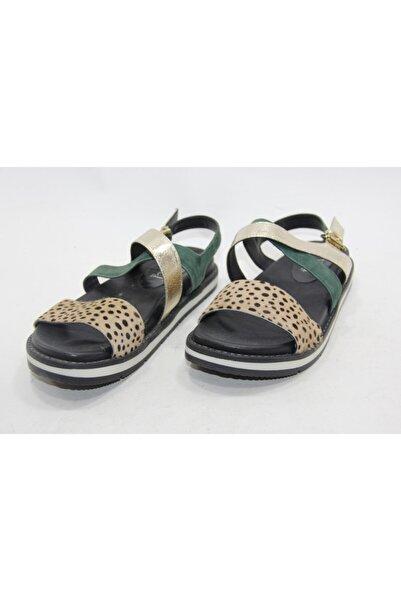 İnci Kadın Çok Renklı 38 Numara Hakiki Deri Sandalet Ayakkabı