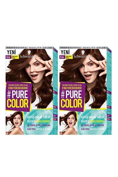 SCHWARZKOPF HAIR MASCARA Pure Color 5-6 Çikolatalı Sufle X2