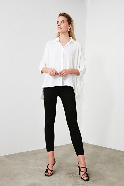 Beyaz Asimetrik Gömlek TWOSS20GO0200