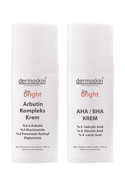 Dermoskin Be Bright   Lekeli Ciltlere Özel  Arbutin Kompleks Krem 33 ml + Be Bright AHA BHA Krem 33 ml