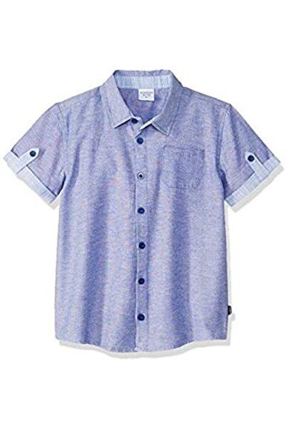 Wonder Kıds Wonder Kids Kısa Kollu Lacivert Gömlek Kol Detaylı