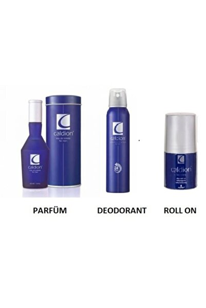 Caldion Orıjınal Classıc Men Edt 100 Ml Erkek Parfüm + 150 Ml Deodorant+rollon Üçlü Set