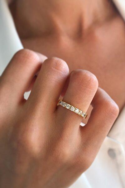 Bonnjerra Jewellery Altın Kaplama Zirkon Taşlı Yüzük