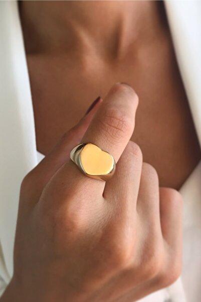 Bonnjerra Jewellery Kadın Altın Kaplama Kalp Yüzük