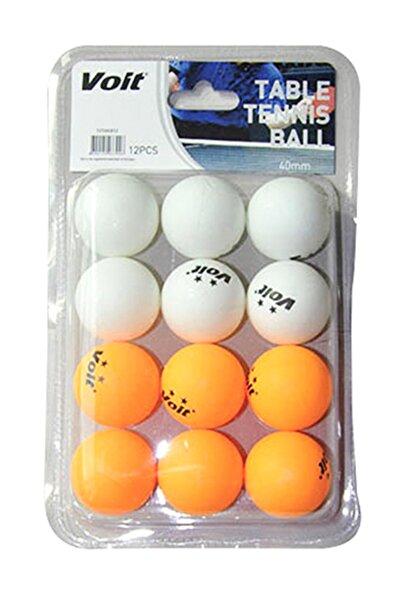 Voit 12'li Pinpon Topu (beyaz+turuncu)