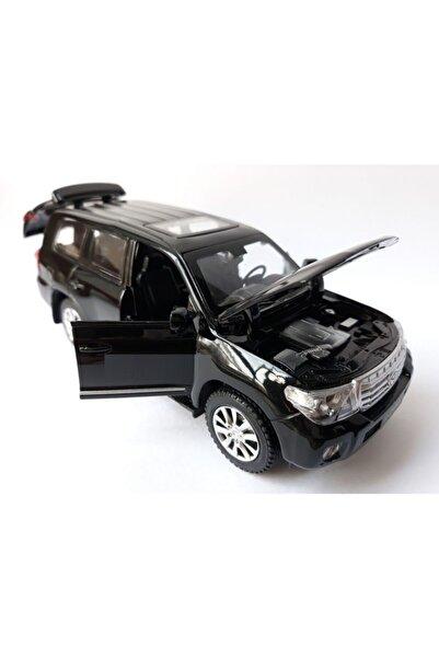 Diecast Toyota Land Cruiser V8 Metal Kapı Bagaj Açılır Oyuncak Araba