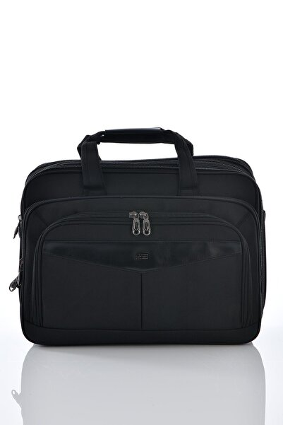 ÇÇS 71147 Laptop Bölmeli Körüklü Evrak Çantası Siyah