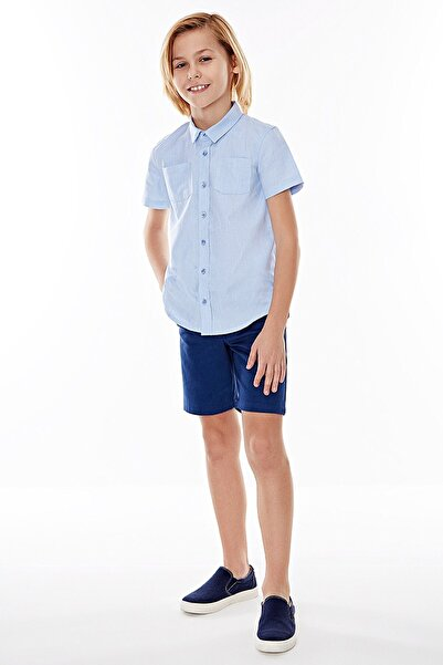 Wonder Kıds Wonder Kids Mavi Kısa Kollu Gömlek