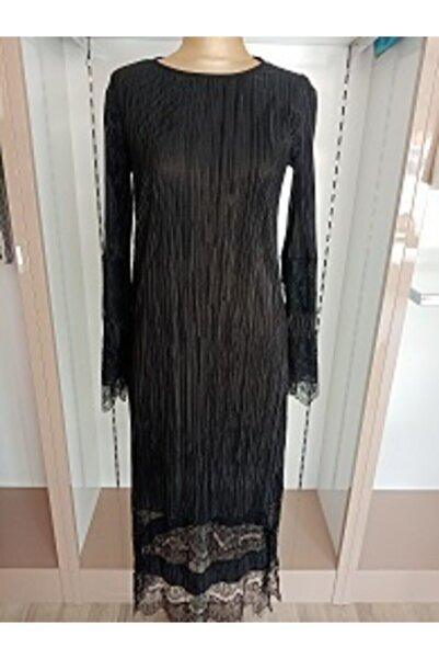 T'dee Concept Kadın Siyah Uzun Kollu Abiye Elbise