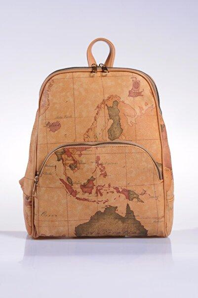 Sergio Giorgianni Luxury Sg1861 Brown Map Kadın Sırt Çantası