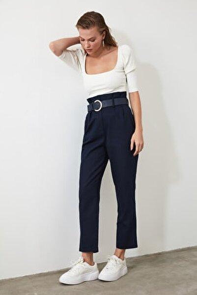 Lacivert Kemerli Pantolon TWOSS20PL0016