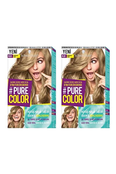 SCHWARZKOPF HAIR MASCARA Pure Color 8-0 Vanilyalı Tart X2