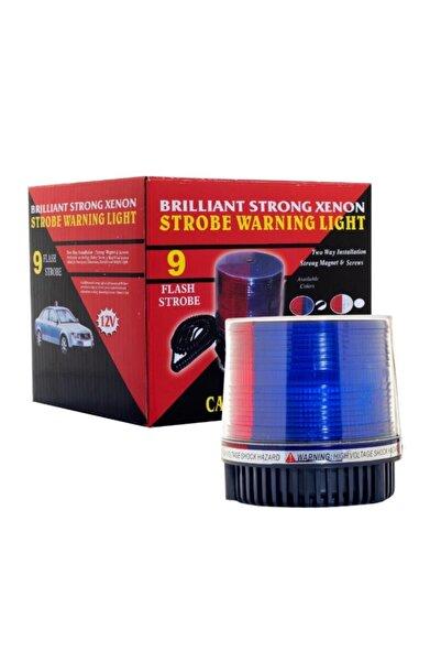 Carmaniaks Mıknatıslı Çakarlı Kırmızı Mavi Tepe Lambası Çakmak Soket Crme0118