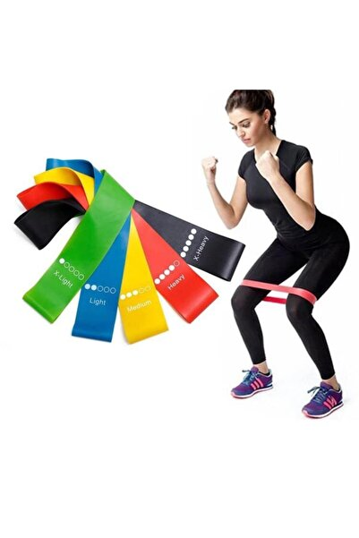 Clifton 3 Lü Farklı Dirençte Squat Bandı Hafif Orta Sert Pilates Aerobik Çalışma Lastiği Egzersiz Fitness