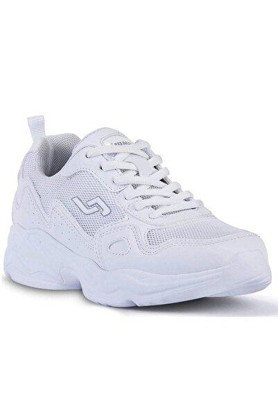 Jump Unisex Beyaz Ortopedik Kalın Taban Günlük Spor Ayakkabı 24736