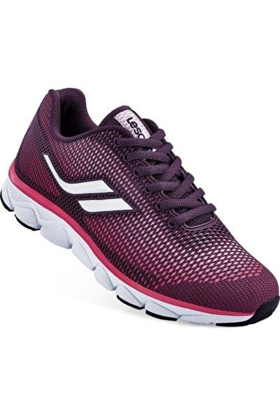 Lescon Kadın Mürdüm Sneaker Ayakkabı