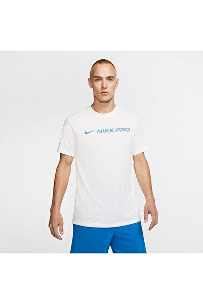 Nike Erkek Beyaz Dri-fıt  Kısakol Tişört