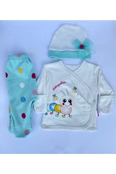 BabyCleane Kız Bebek Turkuaz 3lü Takım