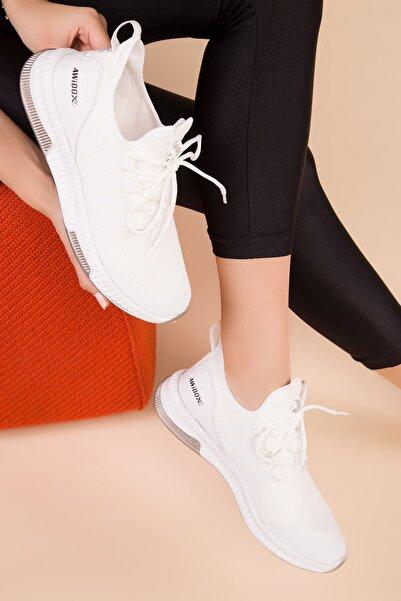 SOHO Beyaz Kadın Sneaker 15195
