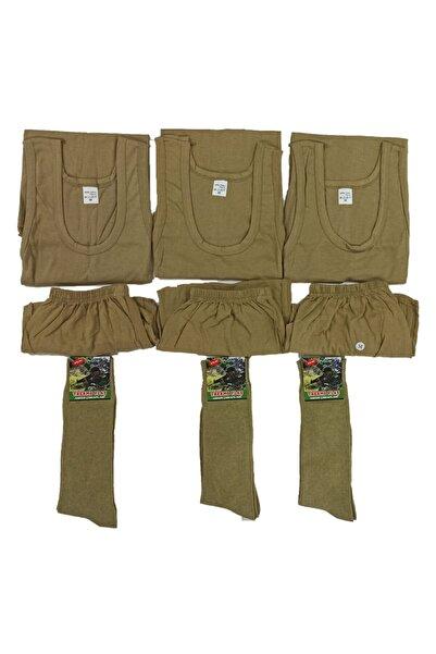 NO NAME Asker Iç Çamaşır Takımı 3lü Ve Çorap