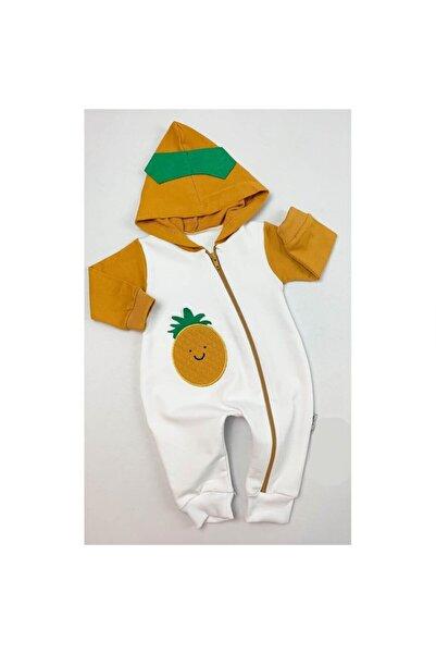 Bebe Ananas Nakışlı Fermuarlı K Tulum