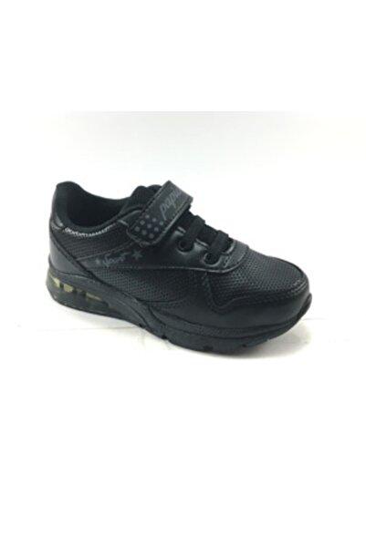 Papion Erkek Çocuk Siyah Spor Ayakkabı