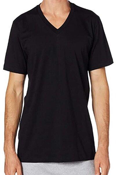 Çift Kaplan 945 V Yaka Erkek Fanila T-shirt
