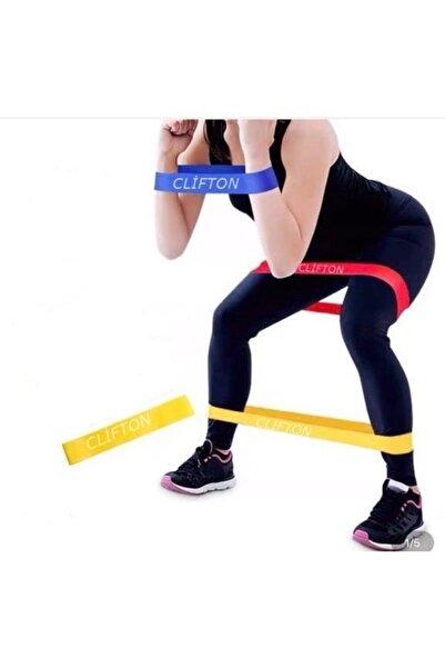 Clifton Aerobik Band Pilates Plates Yoga Fitness Squat Çalışma Lastiği Sarı