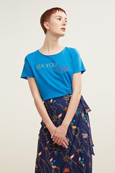 Mudo Kadın Mavi T-Shirt 380274