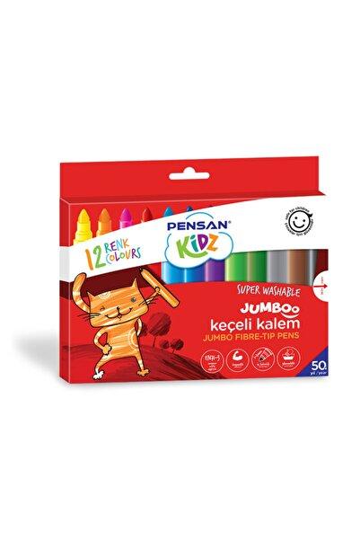Pensan Kidz 12 Renk Yıkanabilir Jumboo Keçeli Kalem Pe99040kk12r