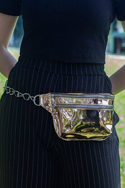 Fabrizio Kadın Bronz Renk Aynalı Bel Çantası