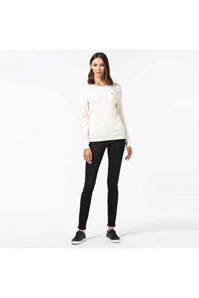 Lacoste Kadın Slim Fit Denim Siyah Pantolon HF2151