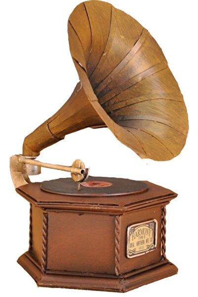 Misiny -nostaljik Metal Gramafon Maketi