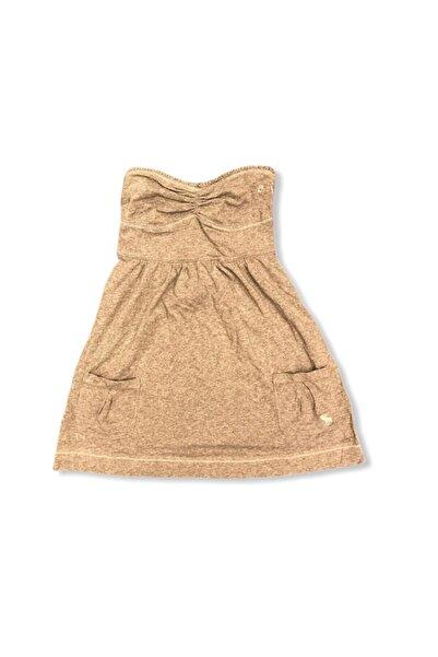 Abercrombie & Fitch Bluz Elbise Giber Gri