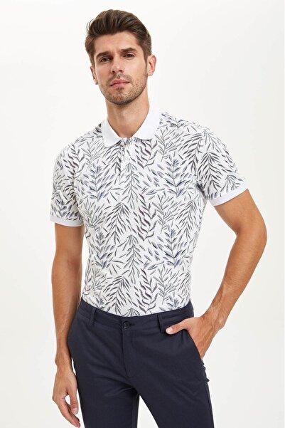 DeFacto Slim Fit Polo Yaka Cepsiz Kısa Kollu Polo Tişört