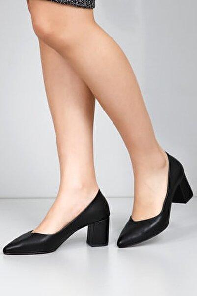 Siyah Kadın Klasik Topuklu Ayakkabı 38918