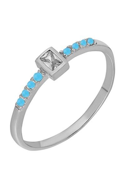 Chavin Gümüş Taşlı Kadın Yüzük Mini Eklem Yüzüğü Ed74by
