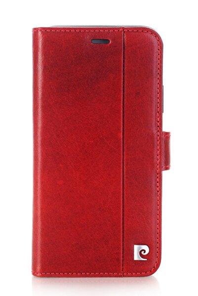 Pierre Cardin Iphone X - Xs (5.8) Bordo Deri Kapaklı Kılıf Pcl-p05