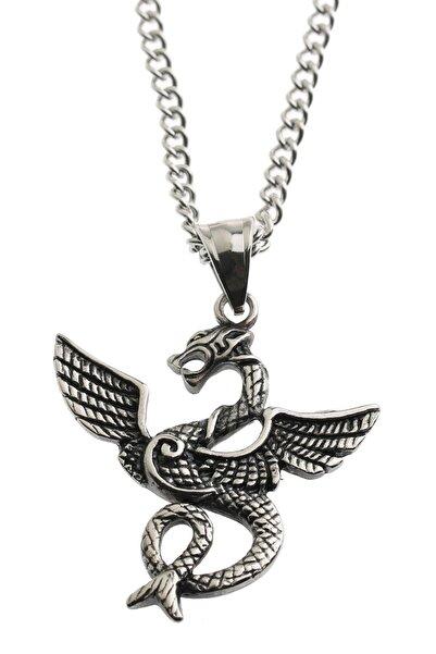 Cadının Dükkanı Çelik Ejderha (dragon) Retro Erkek Kolye