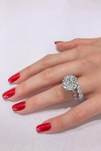 Crystal Diamond Zirconia Labaratuvar Pırlantası 10 Carat Tektaş & 3 Carat Tamtur Yüzük