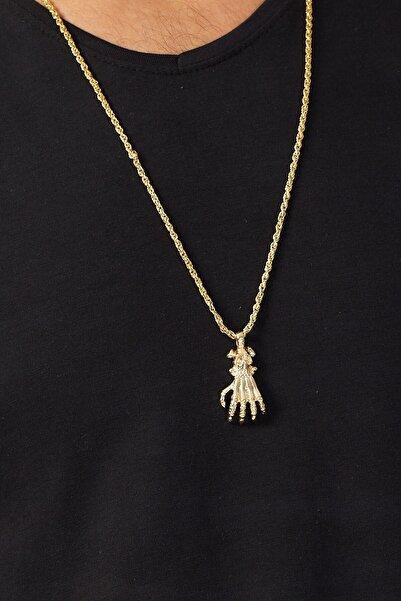 Karpefingo El Figürlü Gold Kolye