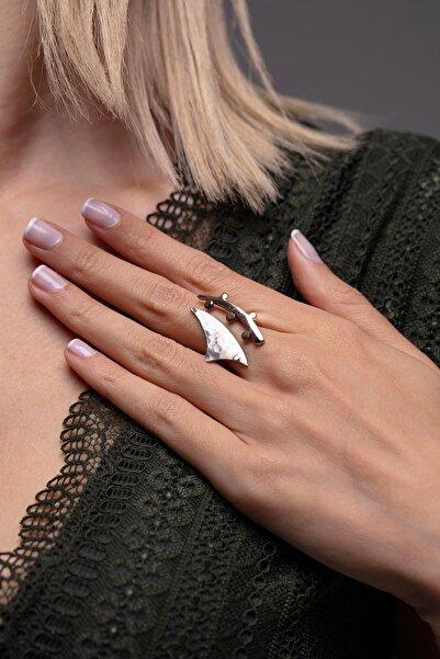 Ninova Silver Iskelet Model El Işçiliği Gümüş Otantik Yüzük
