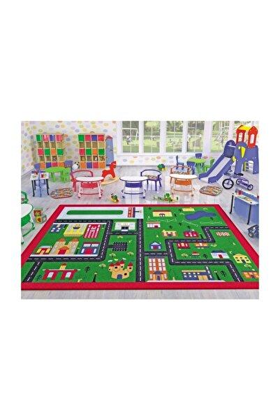Confetti Town Çocuk Odası Anaokulu Araba Yarışı Oyun Halısı 133x190