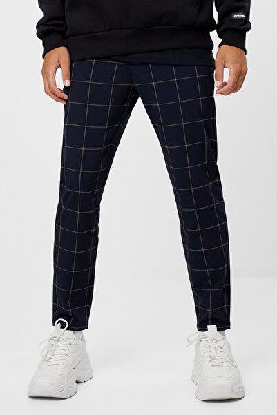 Bershka Erkek Mavi Özel Dikim Skinny Fit Pantolon