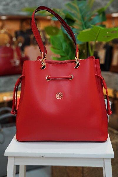 Limoya Bags Kadın Kırmızı Kemerli El ve Omuz Çantası