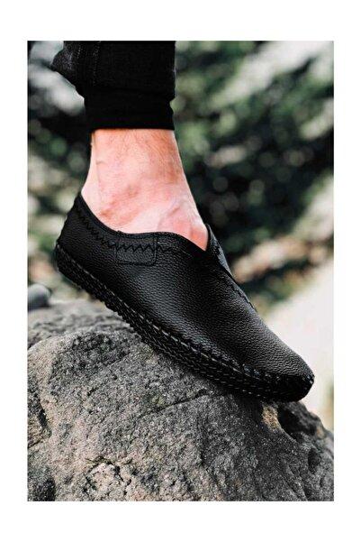 Etap Erkek Siyah Tam Ortopedik Çarık Model Günlük Ayakkabı