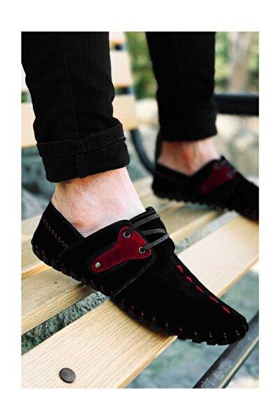 Etap Erkek Siyah Tam Ortopedik Süet Çarık Model Günlük Ayakkabı