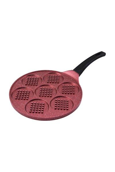 Smile 26 cm Waffle Tava Kırmızı