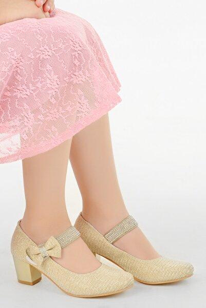 Kiko Kids Kız Çocuk Pembe Kiko 752 Çupra Günlük  4 cm Topuk Babet Ayakkabı