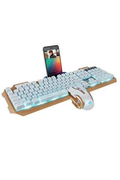 Havana Rampage Ha-k102 Işıklı Oyuncu Klavye Mouse Seti Mekanik His Rgbli